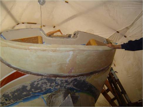 Transom after popping the mold off.  A 3/8