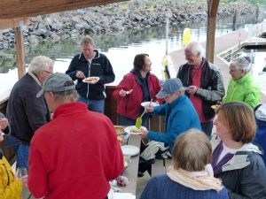 Great potluck on the dock at Kingston