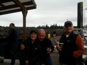 Marlene, Dave, and our hero, Bob.