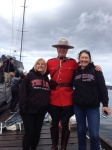 Donna & Peggy with their new Mounty buddy