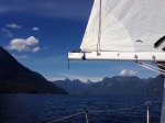 Sailing into a deserted Prideaux Haven, what's not to love