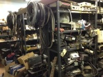 The back room behind the back room at Stryker Marine Electronics.  Mike Curry would have a field day here.