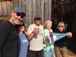 The incredibly supportive Lagoon Cove staff-Lyle, Heidi, and owner  Jean (center)