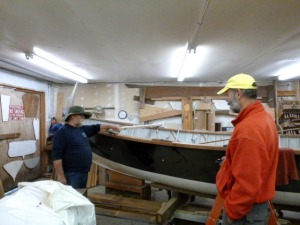 Master Boatwright, Dusty, shows us some of the projects at the End of the World.