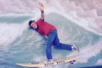 Dad showing off on the Crescent City break showing skills honed on the California beaches of his youth.