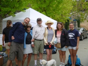 The whole fam at Karrin's waterpolo tournament in Walnut Creek.