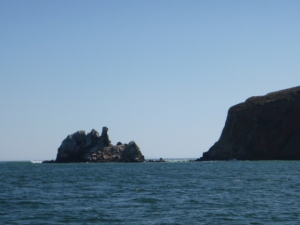 Famous Chimney Rock at Drake Bay entrance