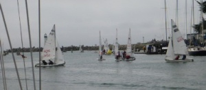 Santa Cruz is sailing crazy. Boats are always coming and going all day long and into the night.
