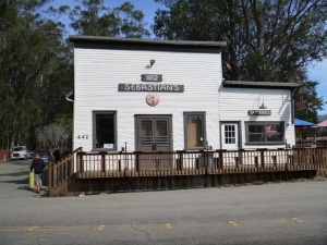 Sebastians store, now a very good restaurant, has been in use here since 1852.