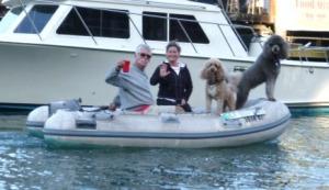 Mike and Linda of Tranquillo with their darling dogs Fro & Furley were fun to hang with during our tenure at F.B.