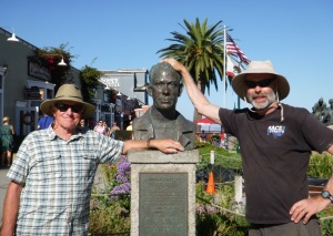 Bob and I hanging with our bud-John Steinbeck.