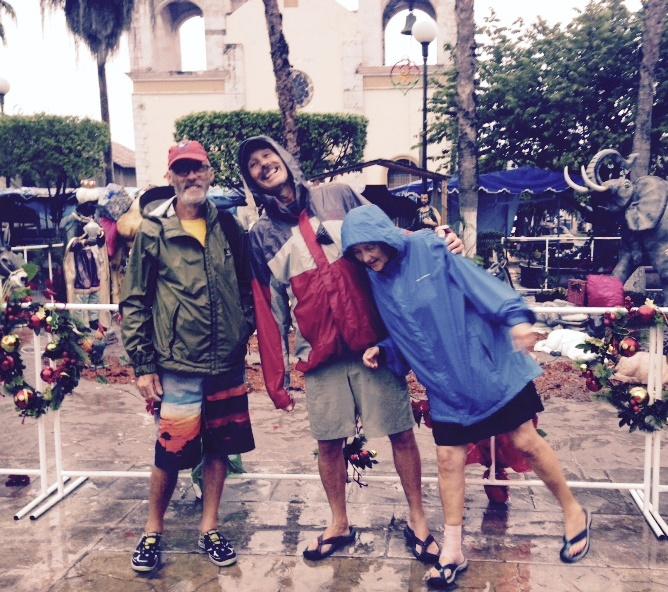 rain in plaza