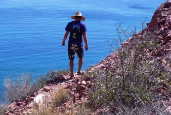 The trail to the top at Isla San Francisco was one of the best we encounter in the Baja. More walking and less bouldering.