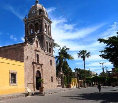 The mission at Loreto was established in the late 1600s beautifully restored.