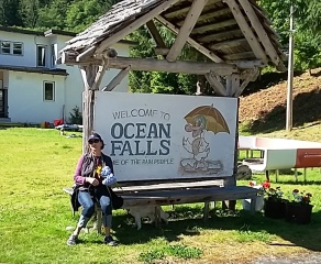 Ocean Falls--formerly pop 6,500 now a ghost town on a very rare day of sun