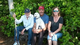 Donna got this shot of me & Lucy with dad & Linda after a grueling hike in the Birdwell Group--in the Broughtons.