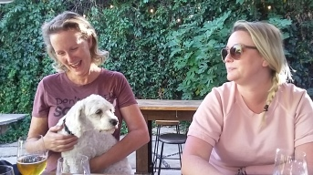 My sister Linda and her daughter Kristi showed us around Los Gatos, the planned location for their Tea Shop. It's quite the upscale community. Lucy, of course, fits right in. So, a little snooty but dog friendly--ok by us.