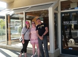 The future home of Casablanca Tea House. Linda & Kristi are waiting on the building permit before construction can begin. Here with Kristi and her friend Jackie. Los Gatos may be as persnickety as Bainbridge on permits so could be a little wait.