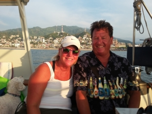 Mike and Lori vacationing from the rigors of the Bainbridge Island Park District joined us for an afternoon sail near their hotel in Puerto Vallarta. They are now