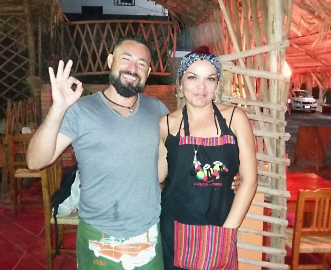 We, along with Bob & Peggy, ate at the Red Witch on our final night in San Blas. What a find. Best food we've had on this coast. The owners, Rodrigo and Edma, are so enthusiastic about their dream of creating this amazing restaurant that we all had a great time.