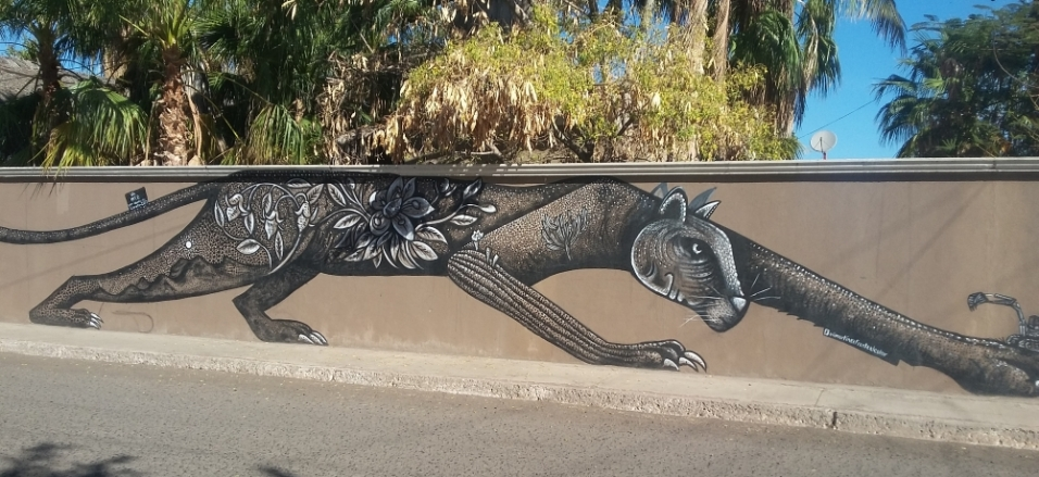 Most of the nicer homes in Loreto have fences but this one was exceptionally well decorated.
