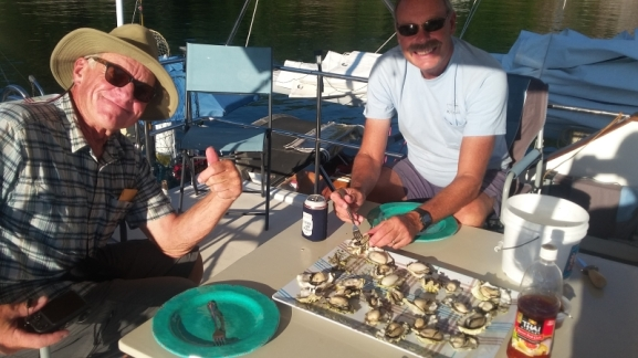 "They don't call him ""Oyster Bob"" for nothing. A whole lot of Oysters were consumed this summer."