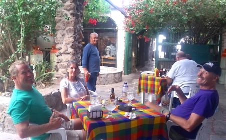 "A ""two margarita lunch"" in Mulege with Pat & Celine of Voila."