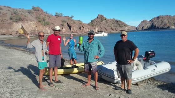 Carmanah's call for an afternoon bocce ball game on the beach brought some boaters ashore at Aquaverde.