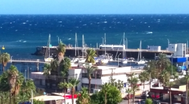 We hunkered down in the small mining town of Santa Rosalia for almost a week as the strong north winds blew. There we even white caps in the harbor.