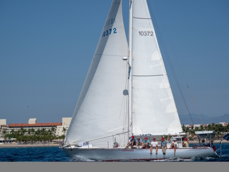 Carmanah and crew at the Banderas Bay Regatta. Great, fun group. We were third in our class--the performance division. Nice close racing. Our spinnaker, Patches, had a tough 3rd day.