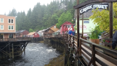 Creek Street in Ketchikan is a pretty cool historical feature despite the hordes of cruise ship visitors. The were usually 4 ships in town at any given time.