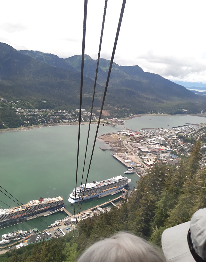 Juneau as seen from the top of the tram ride up Mt Roberts. Michael from Candor and I actually hiked the 4 miles up to the observatory then rode the tram down 1800 feet. (save the $35 fare)