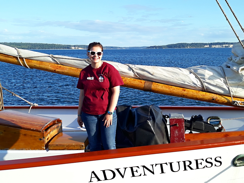 Our last stop before reaching home was in Port Townsend where our niece karrin (a student at WWU) is interning on the fabulous schooner Adventuress. What a gig!