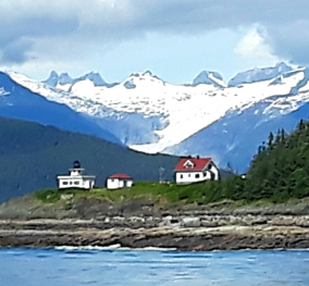 After leaving Juneau, we rounded the light house to head down Chatham Strait. Great view of the Mendenhall Glacier, just 12 miles from down town Juneau.